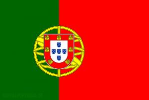 Grön och röd med emblem i mitten